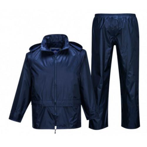Essentials Waterproof Rain Suit- Navy