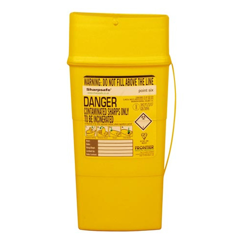 Sharpsafe Bin 0.6ltr Product Image- Landscape Supply Company