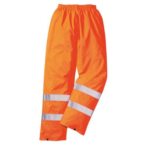 Hi-Vis Orange Waterproof Trousers Small