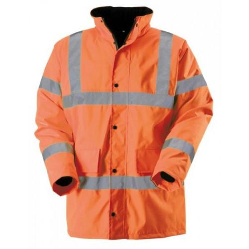 Hi-Vis Orange Waterproof Jacket, Small