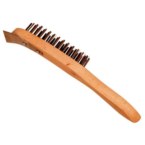 Hand Wire Brush With Scraper Product Image- Landscape Supply Company