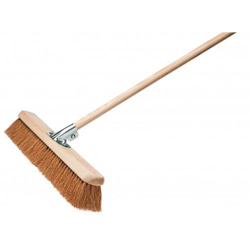 "Coco Broom c/w Galv Bracket & Handle 18""/450mm"