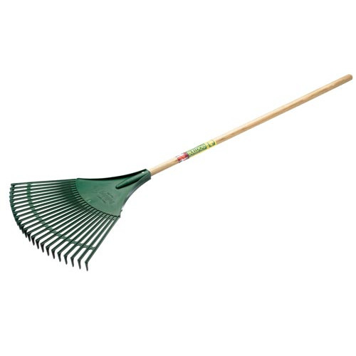 Bulldog Plastic Fan Rake - Wood Shaft Product Image- Landscape Supply Company