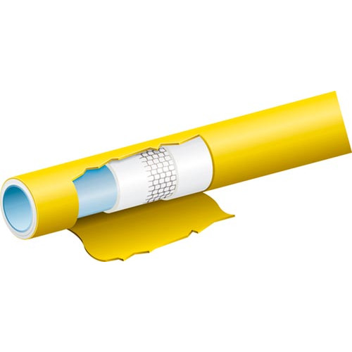 "TricoFLEX Heavy Duty Hose- Yellow  1""/25mm x 100m Product Image- Landscape Supply Company"