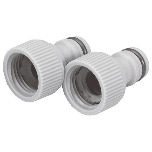 """Plastic Female Threaded Tap Connector ¾""""/19mm Product Image- Landscape Supply Company"""
