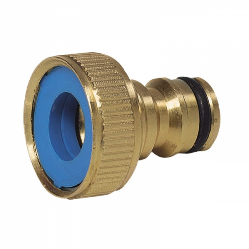 """Brass Female Threaded Tap Connector ¾""""/19mm Product Image- Landscape Supply Company"""