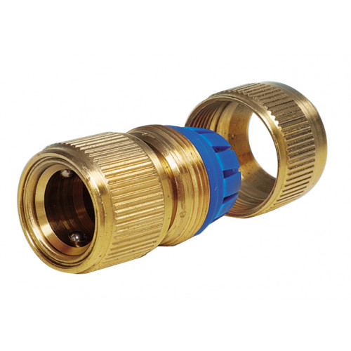 """Brass Hose Connector ¾""""/19mm Product Image- Landscape Supply Company"""