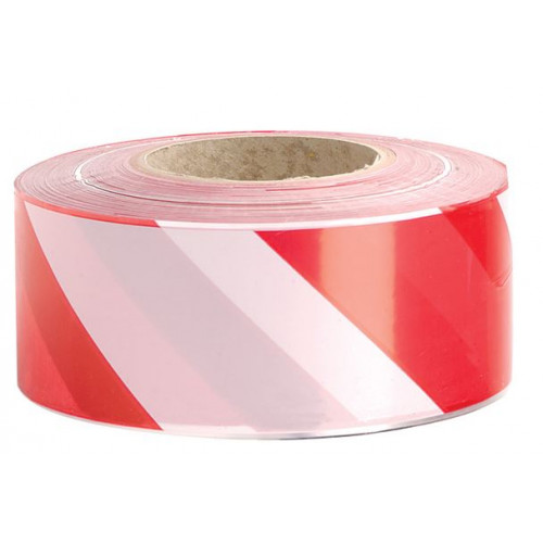 Zebra Tape - Red/White 75mm x 500m Product Image- Landscape Supply Company