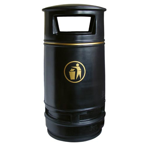 Copperfield Litter Bin, Burgondy Product Image- Landscape Supply Company
