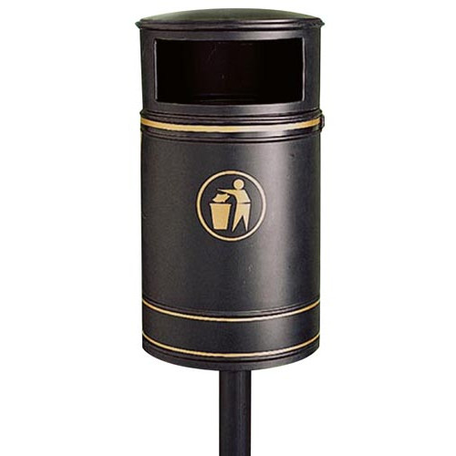 Nickleby Litter Bin, Burgondy Product Image- Landscape Supply Company