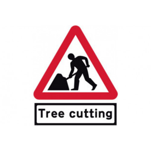 Cone Sign - Men at Work - Tree Cutting, 600mm Product Image- Landscape Supply Company