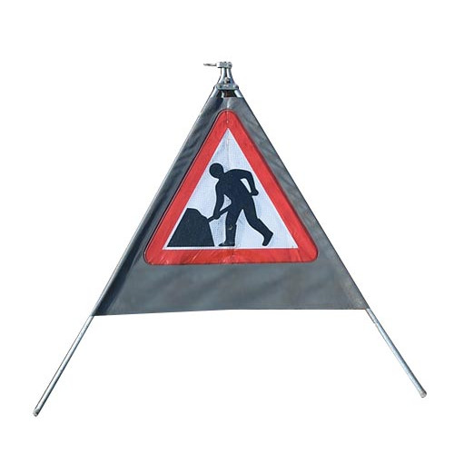 Collapsible Triangular Sign 750mm Product Image- Landscape Supply Company
