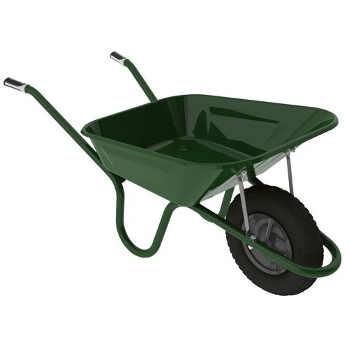 Hæmmerlin GREEN Barrow with Pneumatic Tyre 3ft /90 litre Product Image- Landscape Supply Company