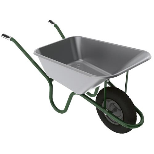 Hæmmerlin GALVANISED Barrow with Pneumatic Tyre 4ft /120 lit Product Image- Landscape Supply Company