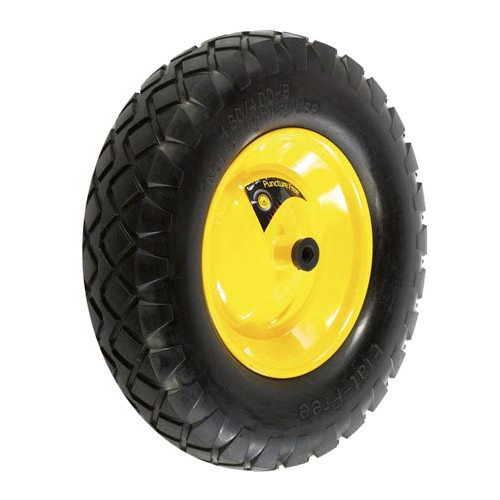 Puncture-free wheel for wheelbarrows (green) Product Image- Landscape Supply Company