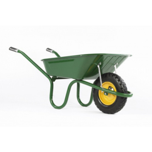 Hæmmerlin GREEN Barrow with Puncture FreeTyre 3 cu.ft Product Image- Landscape Supply Company