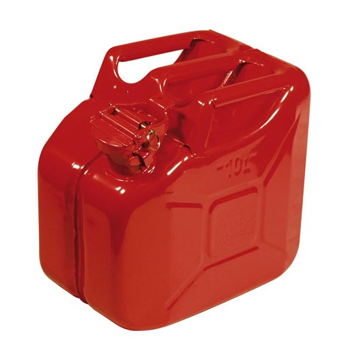 Steel Fuel Can 10 litre Product Image- Landscape Supply Company