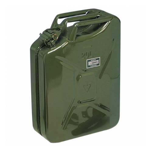 Steel Jerry Fuel Can 20 litre Product Image- Landscape Supply Company