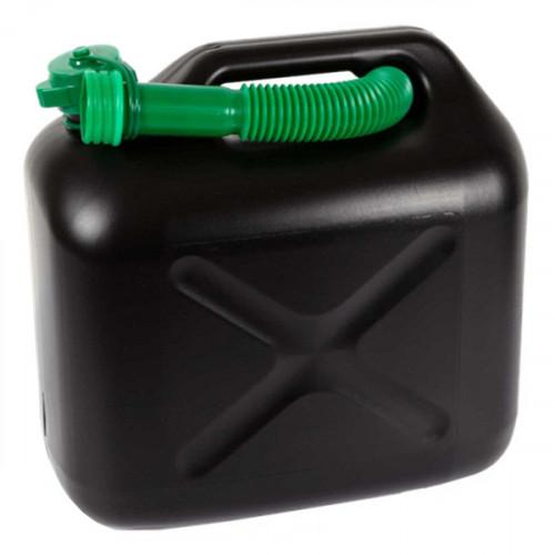 Plastic Fuel Can 10 litre- Black