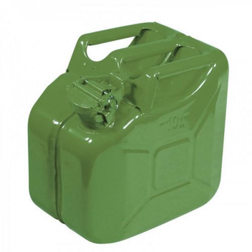 Steel Fuel Can 10 litre- Green