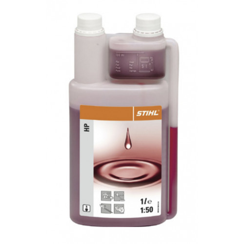 STIHL Two Stroke Oil c/w Metering Bottle 1 litre Product Image- Landscape Supply Company