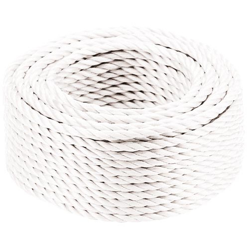 White Polypropylene Rope - 220m 6mm Product Image- Landscape Supply Company