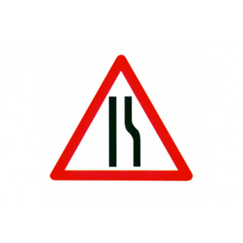 Cone Sign - Road Narrows Offside, 600mm Product Image- Landscape Supply Company