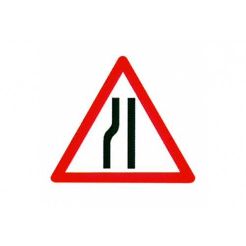 Cone Sign - Road Narrows Nearside, 600mm Product Image- Landscape Supply Company