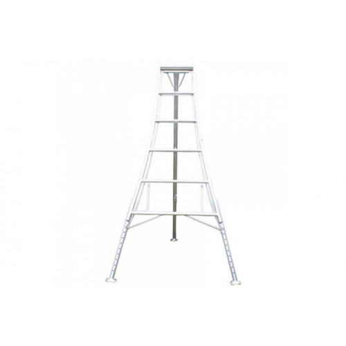 Aluminium Tripod Ladder- Adjustable 12 Tread   Product Image- Landscape Supply Company