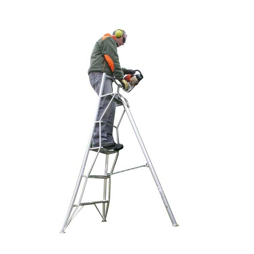 Aluminium Tripod Ladder- Platform Version 7 Tread Product Image- Landscape Supply Company