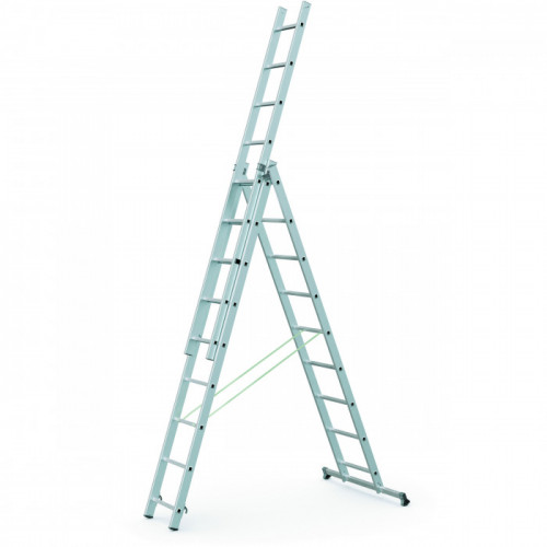 Zarges Starline S+ Combination Ladder, 3-Part, 3 x 7 Product Image- Landscape Supply Company